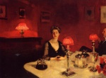 Bild:A Dinner Table at Night
