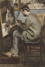 Pierre Auguste Renoir - paintings - Frédéric Bazille at His Easel