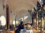 John Singer Sargent  - Bilder Gemälde - Breakfast in the Loggia