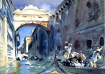 John Singer Sargent  - Bilder Gemälde - Bridge of Sighs