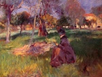 John Singer Sargent  - Bilder Gemälde - In the Orchard