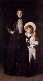 John Singer Sargent  - Bilder Gemälde - Mrs. Edward L. Davis and her Son Livingston