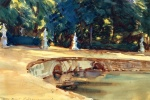 John Singer Sargent  - paintings - Pool in the Garden of La Granja