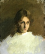 John Singer Sargent  - paintings - Portrait of Edith French