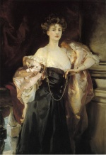 John Singer Sargent  - paintings - Portrait of Lady Helen Vincent Viscountess d Abernon