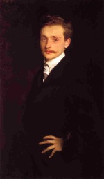 John Singer Sargent  - paintings - Portrait of Leon Delafosse