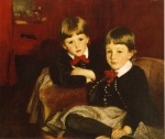 John Singer Sargent  - paintings - Portrait of Two Children (The Forbes Brothes)