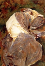 John Singer Sargent  - paintings - Reclining Figure