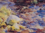John Singer Sargent  - paintings - Reflections Rockswater