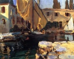 John Singer Sargent  - paintings - San Vigilio (A Boat with Golden Sail)
