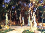 John Singer Sargent  - paintings - Shady Paths