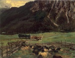 Bild:Sheepfold in the Tirol
