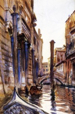 John Singer Sargent  - paintings - Side Canal in Venice