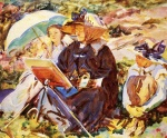 John Singer Sargent  - paintings - Simplon Pass (The Lesson)