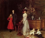 John Singer Sargent  - Bilder Gemälde - Sir George Sitwell, Lady Ida Sitwell and Family