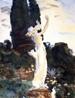 John Singer Sargent  - paintings - Statue of Daphne