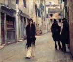 John Singer Sargent  - paintings - Street in Venice