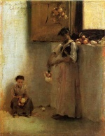 John Singer Sargent  - paintings - Stringing Onions