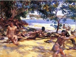 John Singer Sargent  - paintings - The Bathers