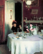 John Singer Sargent  - paintings - The Breakfast Table