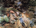 John Singer Sargent  - paintings - The Brook