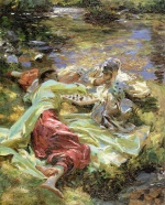John Singer Sargent  - paintings - The Chess Game