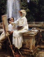 John Singer Sargent  - paintings - The Fountain Villa Torlonia Frascati in Italy