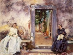 John Singer Sargent  - paintings - The Garden Wall