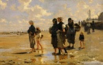John Singer Sargent  - paintings - The Oyster Gatherers of Cancale