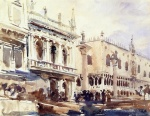 John Singer Sargent  - paintings - The Piazzetta and the Doges Palace