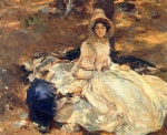 John Singer Sargent  - paintings - The Pink Dress