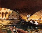 John Singer Sargent  - paintings - The Rialto (Grand Canal)