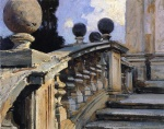 John Singer Sargent  - paintings - The Steps of the Church of St. Domenico (Siste in Rome)