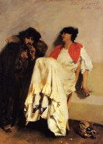 John Singer Sargent  - paintings - The Sulphur Match