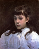 John Singer Sargent  - paintings - Young Girl Wearing a White Muslin Blouse