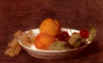 Henri Fantin Latour - Bilder Gemälde - A Bowl of Fruits