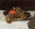 Henri Fantin Latour - paintings - Apples and Grapes