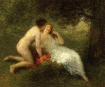 Henri Fantin Latour - Bilder Gemälde - Bathers (The Secret)