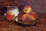 Henri Fantin Latour - Bilder Gemälde - Bowl of Peaches
