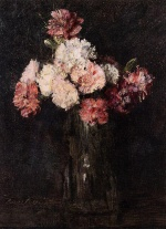 Henri Fantin Latour - paintings - Carnations in a Champagne Glass