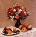 Henri Fantin Latour  - Bilder Gemälde - Flowers and Fruit