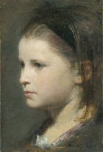 Henri Fantin Latour  - Bilder Gemälde - Head of a Young Girl