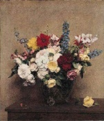 Henri Fantin Latour  - Bilder Gemälde - The Rosy Wealth of June