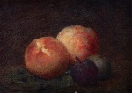 Henri Fantin Latour  - Bilder Gemälde - Two Peaches and two Plums