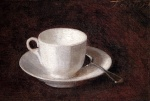 Bild:White Cup and Saucer