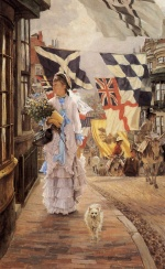 James Jacques Joseph Tissot - paintings - A Fete Day at Brighton