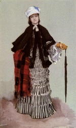 James Jacques Joseph Tissot - paintings - A Lady in a Black and White Dress