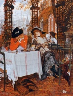James Jacques Joseph Tissot - Bilder Gemälde - A Luncheon