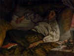 James Jacques Joseph Tissot - paintings - A Reclining Lady
