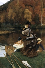 James Jacques Joseph Tissot - Bilder Gemälde - Autumn at the Thames